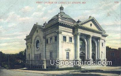 First Church of Christ - St. Joseph, Missouri MO Postcard