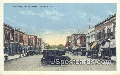 Broadway - Columbia, Missouri MO Postcard