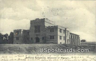 Rothwell Gymnasium, University of Missouri - Columbia Postcard