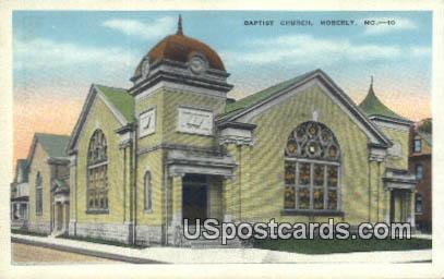 Baptist Church - Moberly, Missouri MO Postcard