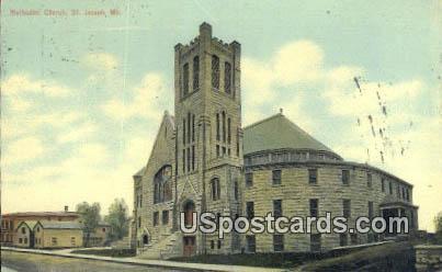 Methodist Church - St. Joseph, Missouri MO Postcard