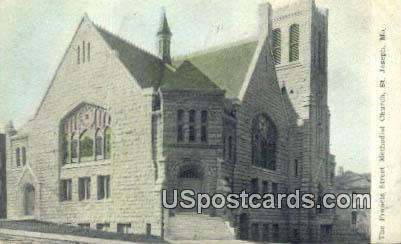 Francis Street ME Church - St. Joseph, Missouri MO Postcard