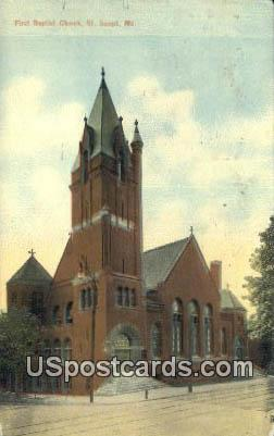 First Baptist Church - St. Joseph, Missouri MO Postcard