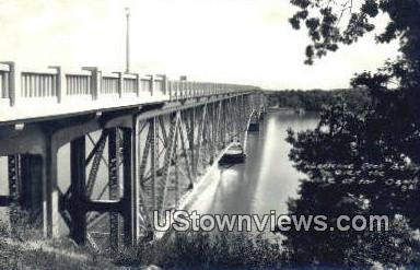 Real Photo - Hurricane Deck Bridge - Lake of the Ozarks, Missouri MO Postcard