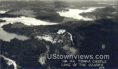 Real Photo - Ha Ha Tonka Castle - Lake of the Ozarks, Missouri MO Postcard