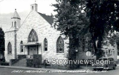 Real Photo - First Methodist Church - Excelsior Springs, Missouri MO Postcard