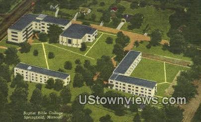 Baptist Bible College - Springfield, Missouri MO Postcard
