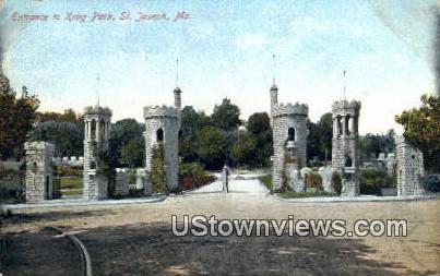 Krug Park - St. Joseph, Missouri MO Postcard