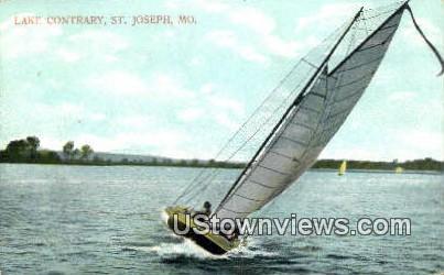 Lake Contrary - St. Joseph, Missouri MO Postcard