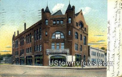 Irish American Bldg - St. Joseph, Missouri MO Postcard