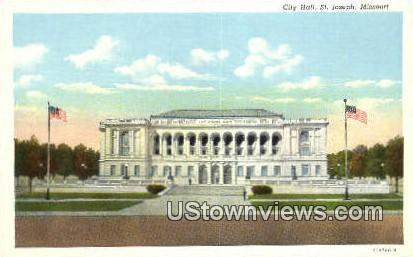 City Hall - St. Joseph, Missouri MO Postcard