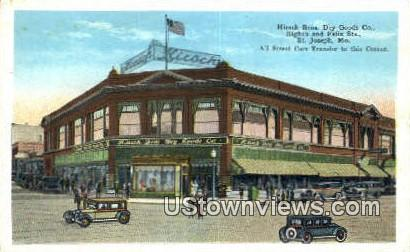 Hirsch Bros. Dry Goods Co - St. Joseph, Missouri MO Postcard
