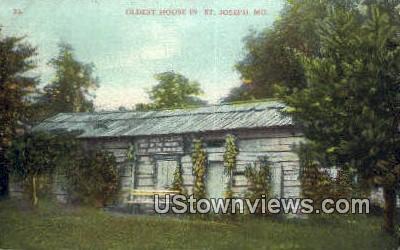 Oldest House, St. Joseph - Missouri MO Postcard