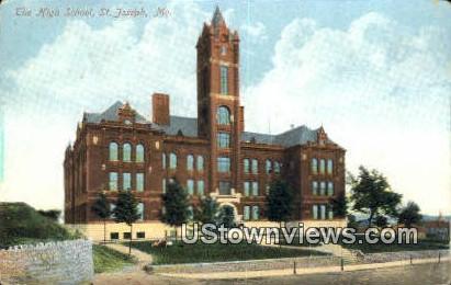 High School, St. Joseph - Missouri MO Postcard