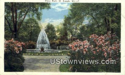 Patee Park - St. Joseph, Missouri MO Postcard