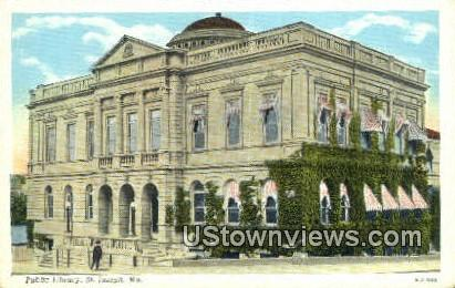 Public Library - St. Joseph, Missouri MO Postcard
