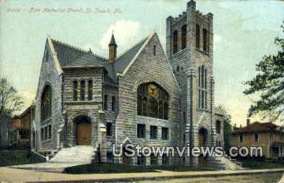 First Methodist Church - St. Joseph, Missouri MO Postcard