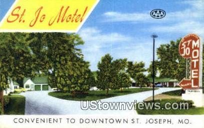 St. Jo Motel - St. Joseph, Missouri MO Postcard