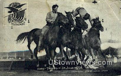 5000 Troops, Military Tournament - St. Joseph, Missouri MO Postcard