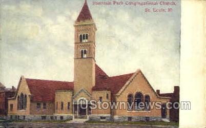 Congregational Church - St. Louis, Missouri MO Postcard