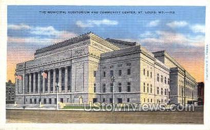 The Municipal Auditorium - St. Louis, Missouri MO Postcard
