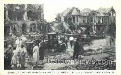 5000 homes wrecked, Tornado - St. Louis, Missouri MO Postcard