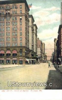 4th Street, Market - St. Louis, Missouri MO Postcard