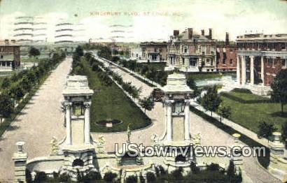 Kingsbury Place - St. Louis, Missouri MO Postcard