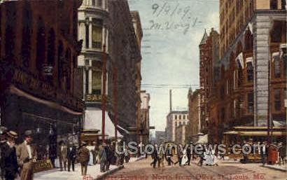 6th St. Looking North From Olive - St. Louis, Missouri MO Postcard