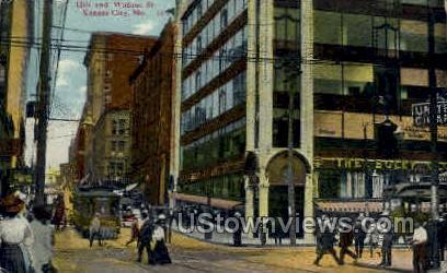12th St. & Walnut St. - Kansas City, Missouri MO Postcard