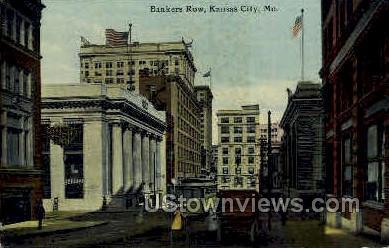 Bankers Row - Kansas City, Missouri MO Postcard