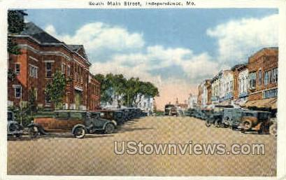 Main St. - Independence, Missouri MO Postcard