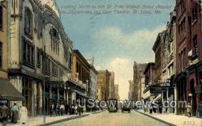 6th St., The Hippodrome - St. Louis, Missouri MO Postcard