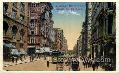 Broadway - St. Louis, Missouri MO Postcard
