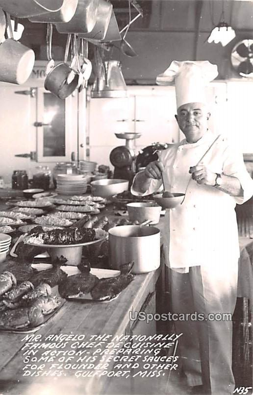 Mr Angeloo the Nationally Famous Chef De Cuisine - Gulfport, Mississippi MS Postcard