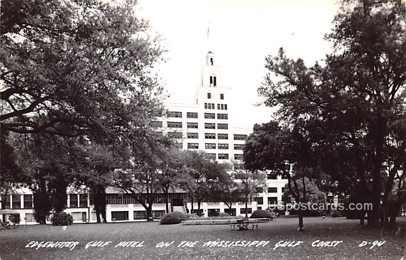 Edgewater Gulf Hotel - Mississippi Gulf Coast Postcards, Mississippi MS Postcard