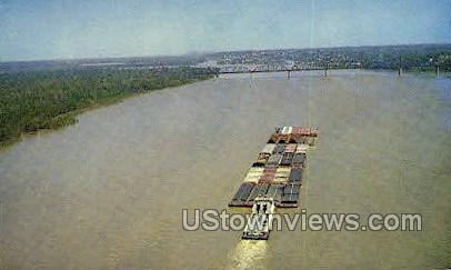 Towboat on The Mississippi - Mississippi River Postcards Postcard