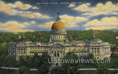 New State Capitol - Jackson, Mississippi MS Postcard