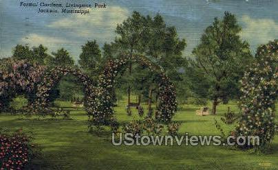 Formal Gardens Livingston Park - Jackson, Mississippi MS Postcard