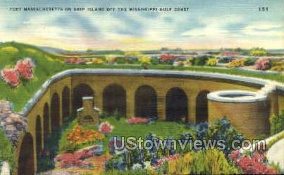 Fort Massachusetts On Ship Island - Gulf Coast, Mississippi MS Postcard