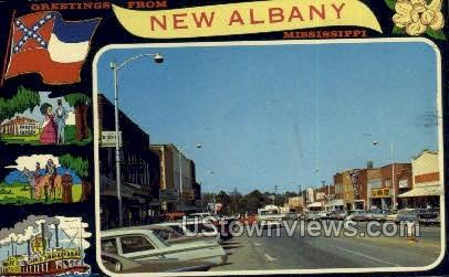 Greetings From - New Albany, Mississippi MS Postcard