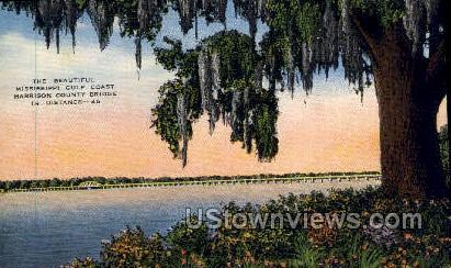 Harrison County Bridge - Gulf Coast, Mississippi MS Postcard