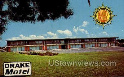 Drake Motel - Jackson, Mississippi MS Postcard