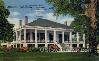 Beauvoir Of Jefferson Davis  - Biloxi, Mississippi MS Postcard