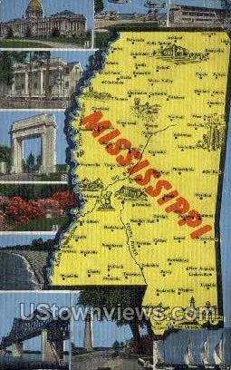 Misc, MS, Mississippi Postcard