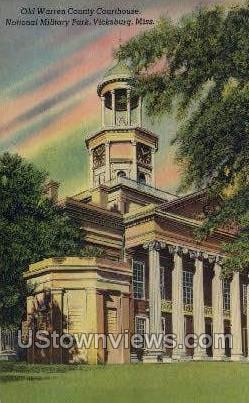 Old Warren County Courthouse - Vicksburg, Mississippi MS Postcard