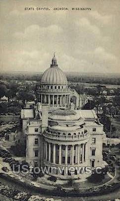 State Capitol - Jackson, Mississippi MS Postcard