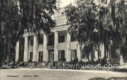 Devereux - Natchez, Mississippi MS Postcard