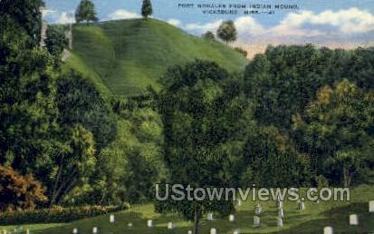 Fort Nogales From Indian Mound  - Vicksburg, Mississippi MS Postcard