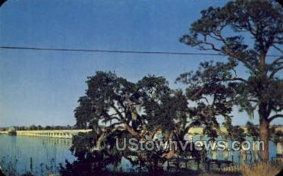The Beautiful Back Bay - Biloxi, Mississippi MS Postcard